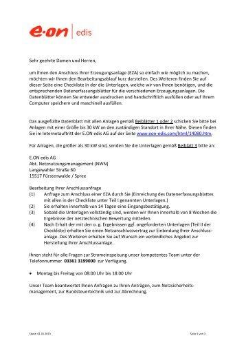 Checkliste - E.ON Edis