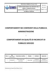 Comportamenti nei confronti della Pubblica Amministrazione - Ianomi