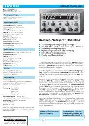 Dreifach-Netzgerät HM8040-2 - Helmut Singer Elektronik