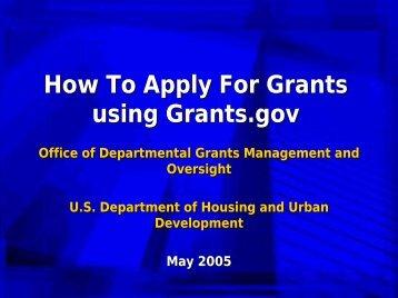 When applying for grants?