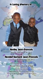 Kenley Jean-Francois - Honor You Memorial Products