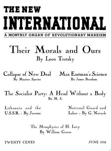 Their Morals and Ours - Marxists Internet Archive