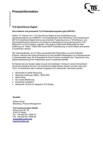 TLS MultiControl: - TLS Communication GmbH