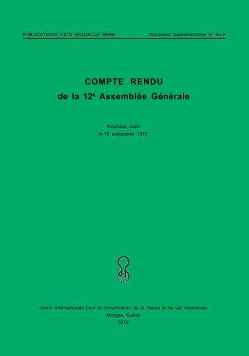 12e Assemblée générale, 1975 - IUCN