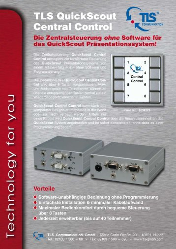 QuickScout Central Control.pdf - TLS Communication GmbH