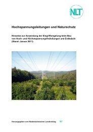 Hochspannungsleitungen und Naturschutz - Niedersächsischer ...