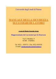Manuale della sicurezza sui luoghi di lavoro - Università degli Studi ...