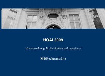 HOAI 2009 - MD Rechtsanwälte
