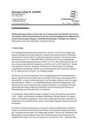 Sitzungsvorlage Nr. 222/2001 - Verband Region Stuttgart