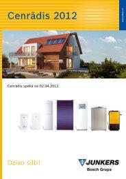 Junkers cenu katalogs 2012 - Siltumnieks.lv