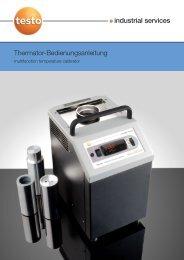 Bedienungsanleitung - Testo Industrial Services GmbH
