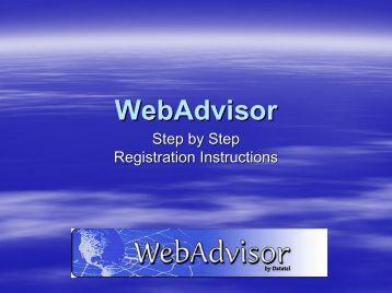 What is a Chapman WebAdvisor?