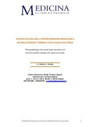 fisiopatologia dell'ipersecrezione bronchiale ed inaloterapia termale ...