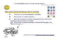 organizzazione generale del cantiere - Ministero del lavoro, salute e ...