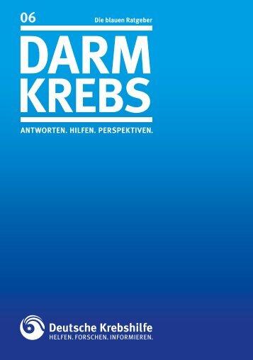"""Blauer Ratgeber """"Darmkrebs"""" - Deutsche Krebshilfe eV"""