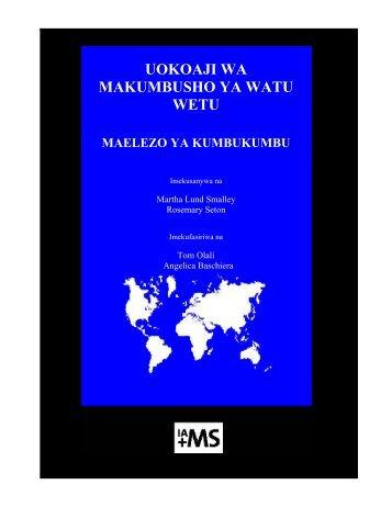 uokoaji wa makumbusho ya watu wetu - Overseas Ministries Study ...