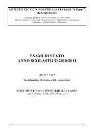 ESAMI DI STATO ANNO SCOLASTICO 2010/2011