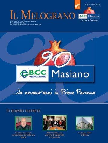 N. 7 - Dicembre 2009 - BCC Masiano