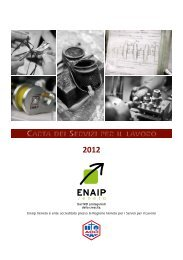 carta dei servizi per il lavoro 2012 - EnAIP Veneto
