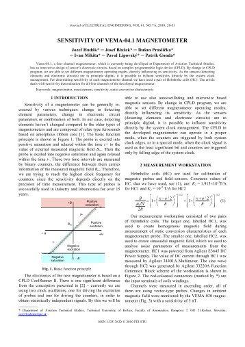 SENSITIVITY OF VEMA-04.1 MAGNETOMETER