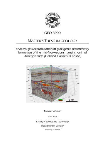 msc thesis geology