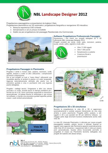 Analisi multiscala anali for Nbl landscape designer