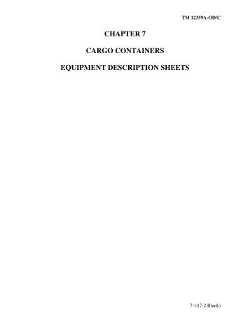 Download Characteristics of All Cargo Containers