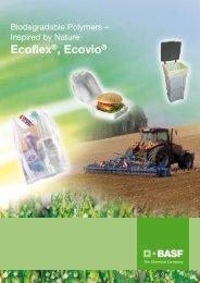 Ecoflex Ecovio – Biopolymers – Inspired by nature – Broschüre