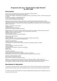 """Programma del corso """"Analisi Chimica degli ... - I blog di Unica"""