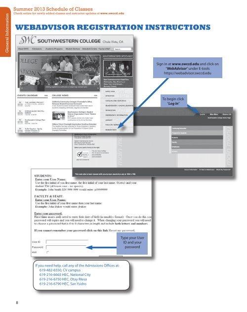 WEBADVISOR REGISTRATION INSTRUCTIONS - Southwestern