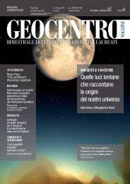Geocentro Magazine - numero 6 - novembre/dicembre 2009