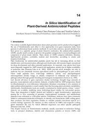 In Silico Identification of Plant-Derived Antimicrobial Peptides - InTech