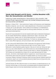 Presseinformation als PDF - bei TNS Infratest