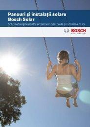 Panouri şi instalaţii solare Bosch Solar - Bosch Climate