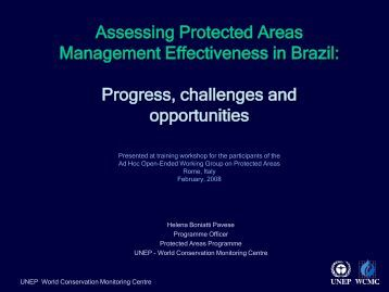 Assessing Protected Areas Management Effectiveness in Brazil ...