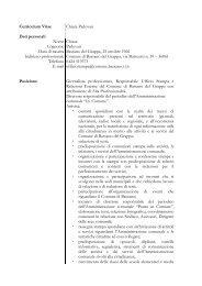 Curriculum Vitae Chiara Padovan Dati personali Nome Cognome ...
