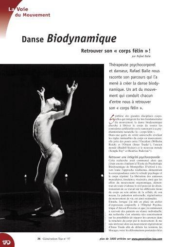 """Retrouver son """"corps félin"""" - Danse Biodynamique"""