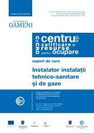 suport de curs - Instalator instalatii tehnico-sanitare si de gaze