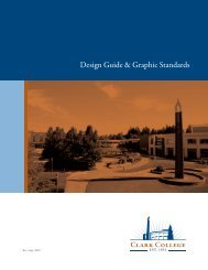 Design Guide & Graphic Standards - Clark College
