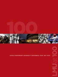 loyola marymount university centennial year 2011–2012