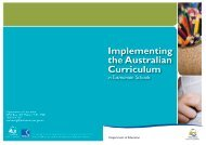 Australian Curriculum in Tasmanian Schools - Department of ...