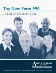 The New Form 990 - Arkin & Company, Chartered, CPA's