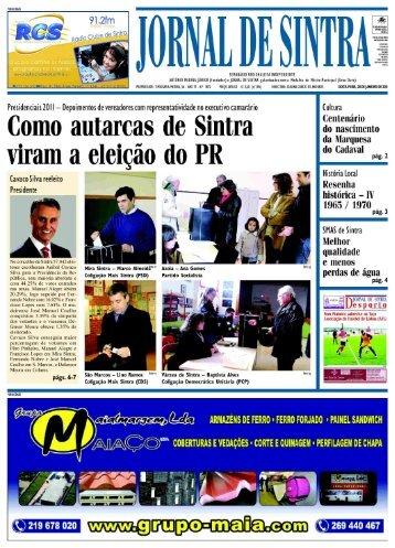 Presidenciais 20I I - Depoimentos de vereadores ... - Jornal de Sintra