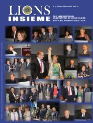The INTerNATIoNAl AssocIATIoN of lIoNs clubs - Distretto 108A