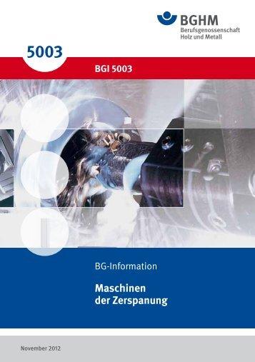 BGI 5003 Maschinen der Zerspanung - OSIMA