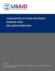 USAID Office of Food for Peace Burkina Faso Bellmon ... - CiteSeerX
