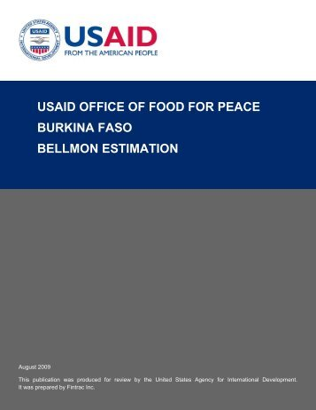 USAID Office of Food for Peace Burkina Faso Bellmon ... - CiteSeerX