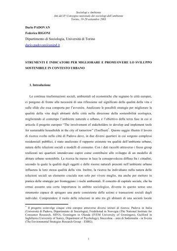 Padovan - Istituto di Ricerca Sociale