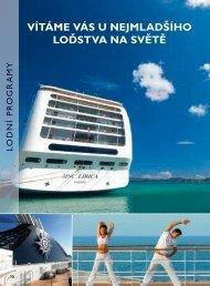 Schémata lodí a rozdělení kajut - Riviera Tour