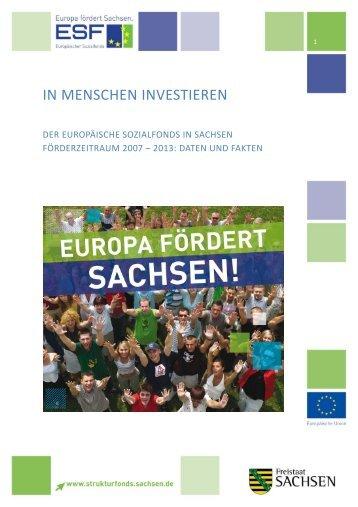 ESF 2007-2013 in Sachsen - Daten und Fakten - Strukturfonds in ...